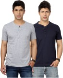 Top Notch Solid Men's Henley Grey, Dark ...