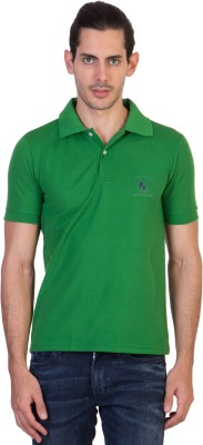 Green Wich United Polo Club Solid Men's Polo Neck Green T-Shirt