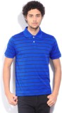 Allen Solly Striped Men's Polo Neck Blue...