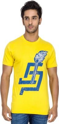 Tee Kadai Printed Men's Round Neck Yellow T-Shirt