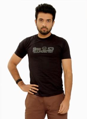 MountainColours Solid Men's V-neck Black T-Shirt