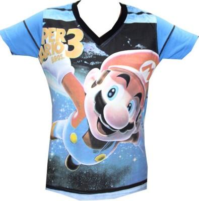 Kidsmasthi Graphic Print Boy's V-neck T-Shirt
