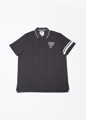 Puma Solid Men's Polo Grey T-Shirt