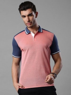 Invictus Solid Men's Polo Neck Red, Blue T-Shirt