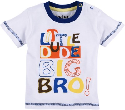 Mom & Me Solid Baby Boy's Round Neck T-Shirt