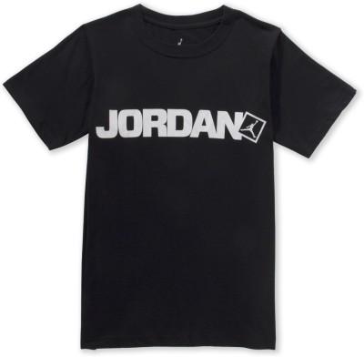 Jordan Kids Graphic Print Boy's Round Neck Black T-Shirt