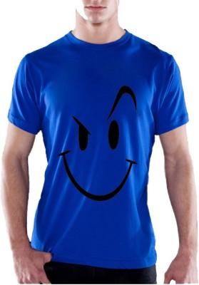 13th Avenue Printed Men's Round Neck Blue T-Shirt