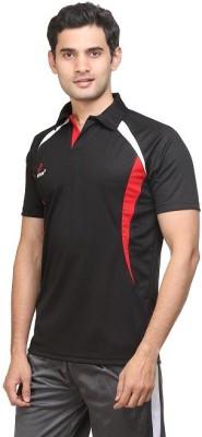 Perform Solid Men,s, Boy's Flap Collar Neck T-Shirt