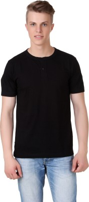 Aventura Outfitters Solid Men's Henley Black T-Shirt