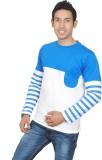 Brand Teez Solid Men's Round Neck Blue, ...