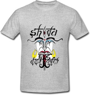 HINDUKUSH Graphic Print Men's Round Neck Grey T-Shirt