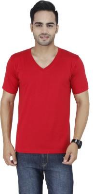 Stylogue Solid Men's V-neck Red T-Shirt