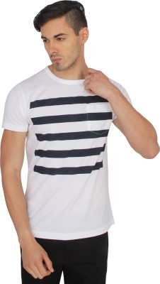 French Connection Striped Men's Round Neck T-Shirt