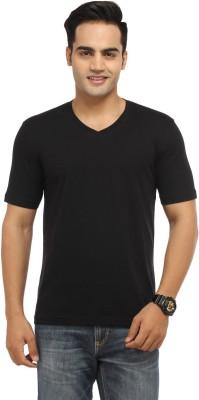 BepoyZ Solid Men's V-neck Black T-Shirt