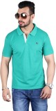 Shineway Solid Men's Polo Neck Green T-S...