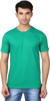 Essentiele Solid Men's Round Neck Green T-Shirt