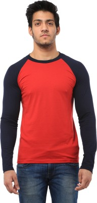 Five Stone Solid Men's Round Neck Red T-Shirt