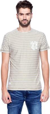 Mufti Striped Men's Round Neck T-Shirt