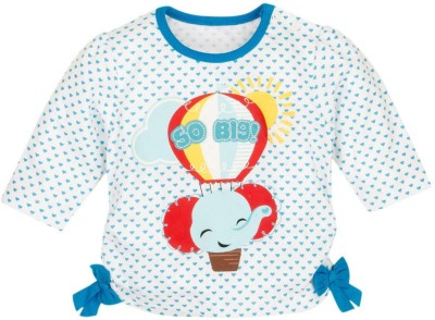Fisher-Price Printed Girl's Round Neck Multicolor T-Shirt