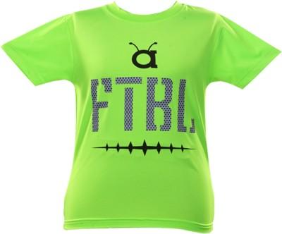 Anthill Graphic Print Boy's Round Neck Light Green T-Shirt