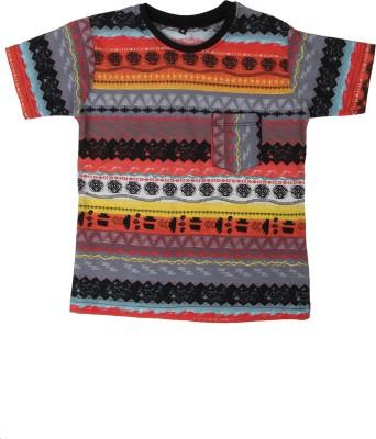 SAIAANSH Printed Baby Boy's Round Neck Multicolor T-Shirt