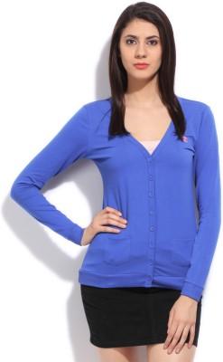 Champion Printed Women,s Round Neck Blue T-Shirt