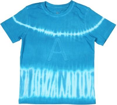 Allen Solly Geometric Print Boy's Round Neck Blue T-Shirt