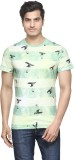 Be Pure Printed Men's Round Neck Green T...