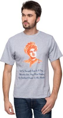 Anveshana Retail Printed Men's Round Neck Grey T-Shirt