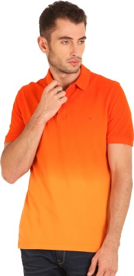 Sting Solid Men's Polo Orange T-Shirt