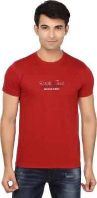 Strak Solid Men's Round Neck Maroon T-Shirt