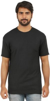 curviva Striped Men's Round Neck Grey T-Shirt