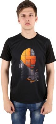 Punjabi Heritage Graphic Print Men,s Round Neck Black T-Shirt