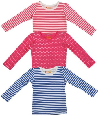 Karrot by Shoppers Stop Striped, Polka Print Baby Girl's Round Neck Multicolor T-Shirt