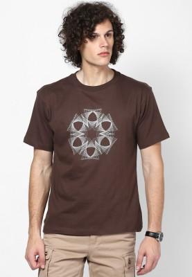 Blotch Printed Men's Round Neck T-Shirt
