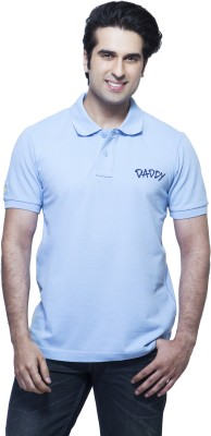 Daddy's Capes Printed Men's Polo Neck Light Blue, Dark Blue T-Shirt