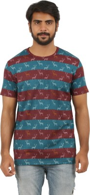 Pp jeans Printed Men's Round Neck Red T-Shirt