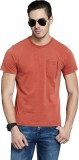 Route 66 Solid Men's Round Neck Red T-Sh...