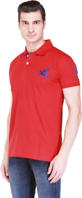 Right Shape Solid Men's Polo Red T-Shirt