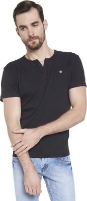 Globus Solid Men's Round Neck Black T-Shirt