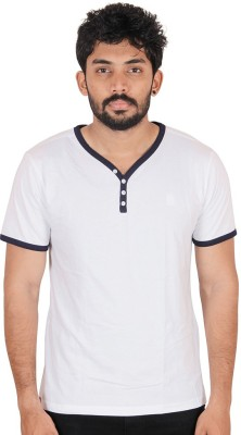 CHAGGIT Solid Men's Fashion Neck White T-Shirt
