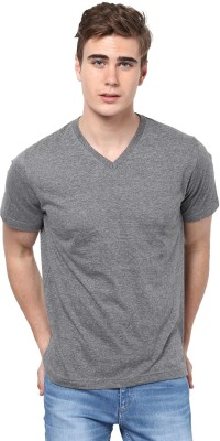 Aventura Outfitters Solid Men's V-neck Grey T-Shirt