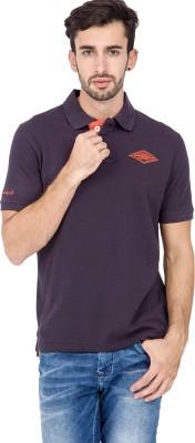 urbantouch Solid Men's Polo Neck Purple T-Shirt