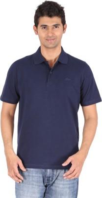 Furore Solid Men's Polo Dark Blue T-Shirt