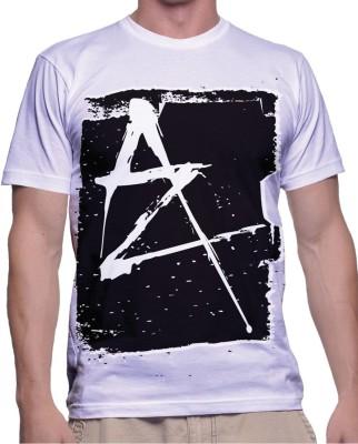 fak Graphic Print Men's Round Neck White T-Shirt