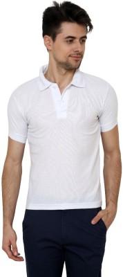 Grand Bear Solid Men's Polo Neck White T-Shirt