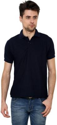 Grand Bear Solid Men's Polo Neck Dark Blue T-Shirt