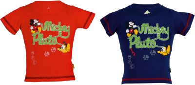 Body Care Printed Baby Boy's Round Neck Multicolor T-Shirt