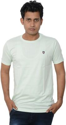 Lampara Solid Men's Round Neck White T-Shirt