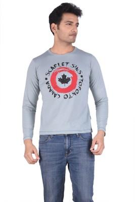 TSG Breeze Printed Men's Fashion Neck Grey T-Shirt